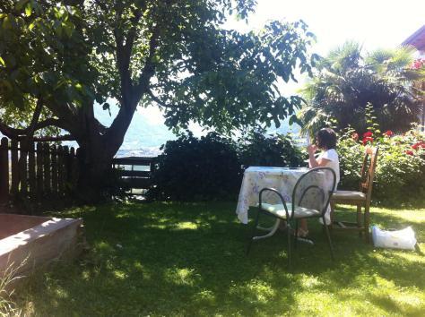 Giardino del Residence- Hotel Gutemberg-Schenna