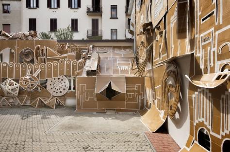 Daniel Gonzalez - Pop-up building Milan installazione a Milano fino al 30 ottobre 2015