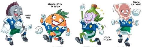 FoodBall-i personaggi del videogame