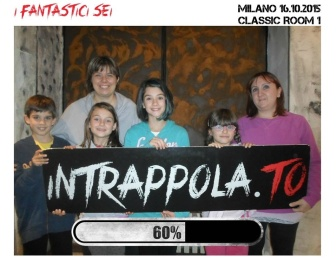 I fantastici 6 della escaperoom di Intrappola.to