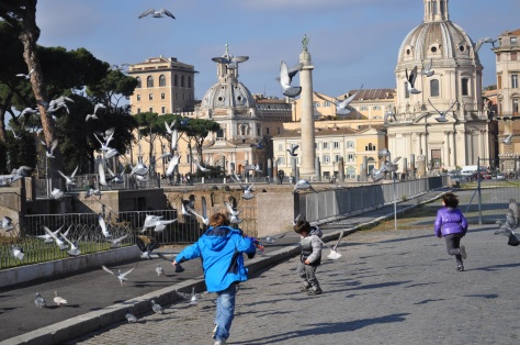bambini visitano Roma
