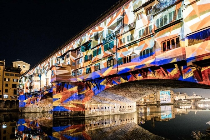 ponte-vecchio-Firenze- video mapping