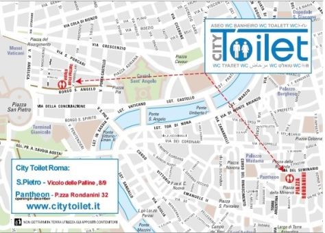 mappa City Toilet Roma