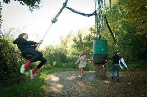 L'incredibile Luna Park fatto a mano dell'Osteria ai Pioppi, a Nervesa della Battaglia, Treviso