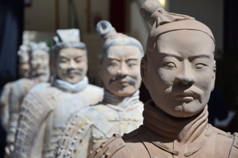 guerrieri terracotta in mostra a Bari