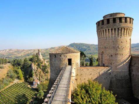 Rocca di Brisighella-il camminamento sulle mura