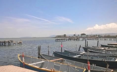 Gargano- barche al Lago di Lesina