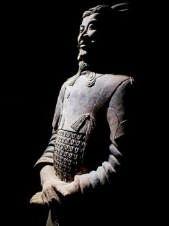Guerrieri di terracotta-particolare