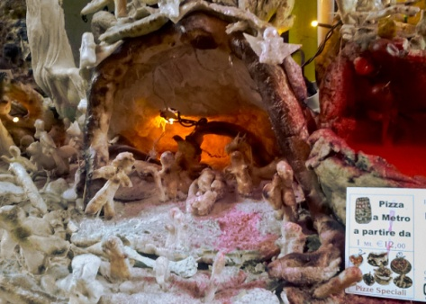 Presepe di pizza a Napoli
