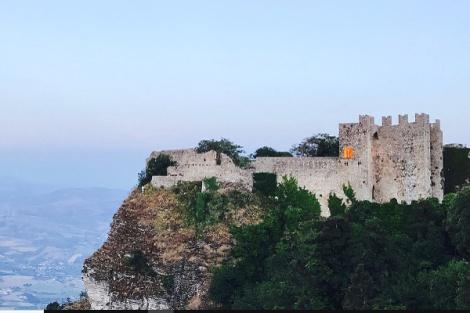 Erice-vista del Castello