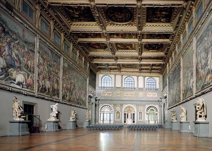 Firenze con i bambini Palazzo Vecchio salone del Cinquecento