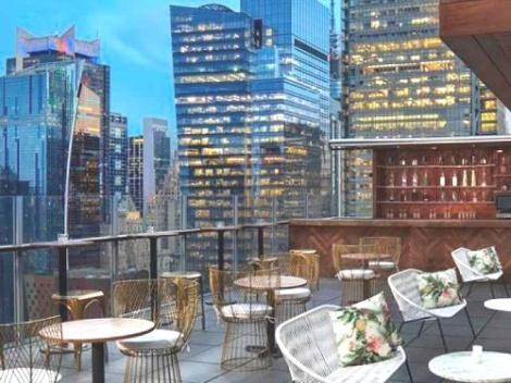Viaggio a New York per famiglie-DoubleTree -Times Square Wes-terrazza
