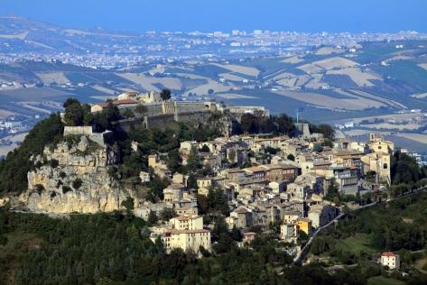 Civitella del Tronto (Te), veduta dalla Montagna di Campli